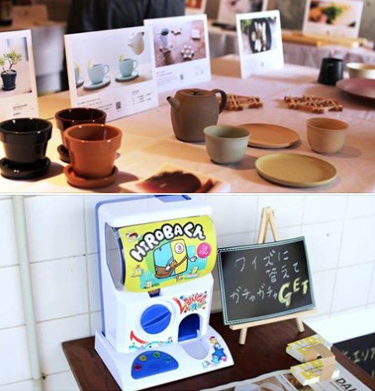 「HIROBA!ギャラリー」が雨の日商店街に出店!